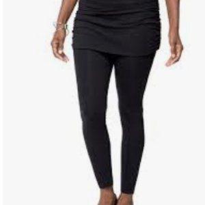 RUBY RIBBON Skirted Leggings SZ SMALL BLACK